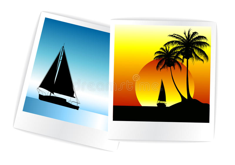 Set Of Colorful Photos From The Holidays Royalty Free Stock Image