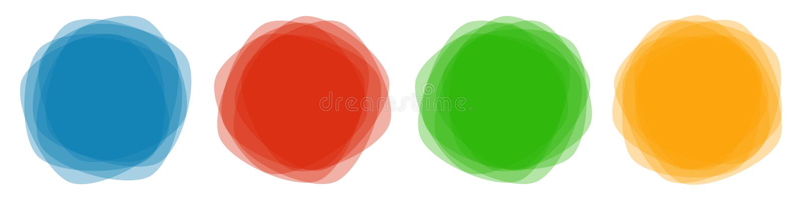 Set of colorful round abstract banners overlay shapes, design elements - vector. Set of colorful round abstract banners overlay shapes, design elements - stock vector illustration