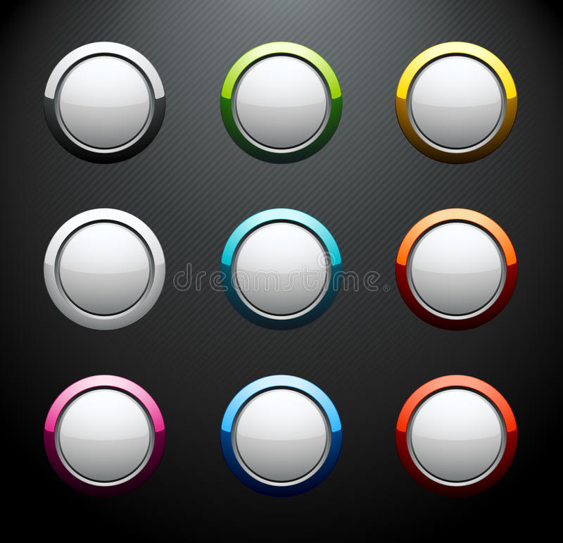 Download Set Of Colorful Round Buttons Stock Photo - Image: 13597110