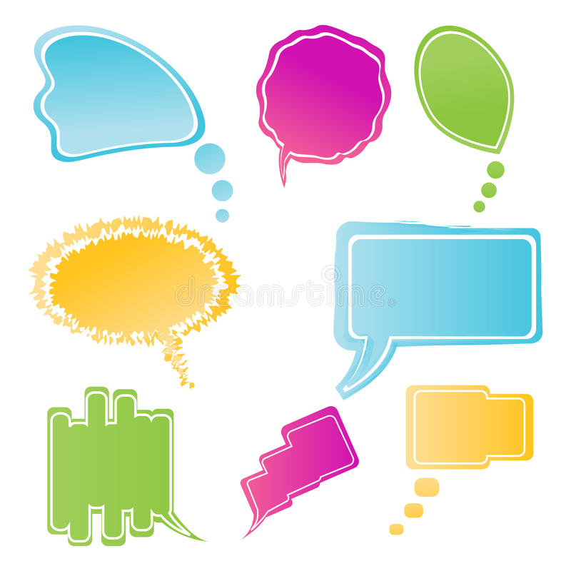 Download Set Of Colorful Speech Bubbles Stock Illustration - Image: 16728123