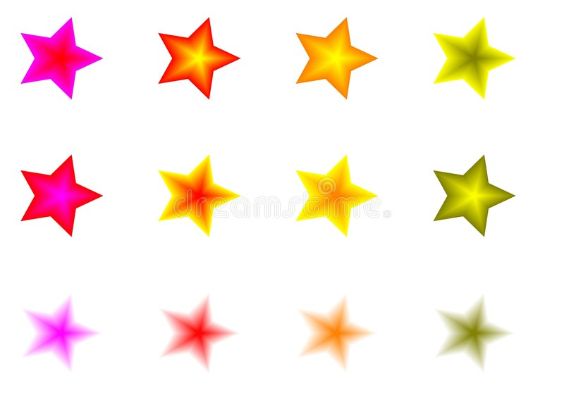 Download Set of colorful stars stock vector. Illustration of decoration - 3352107