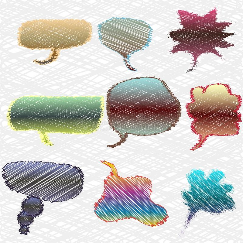 Download A Set Of Colorful Thought Or Speech Bubbles Stock Vector - Illustration of collection, idea: 16887731
