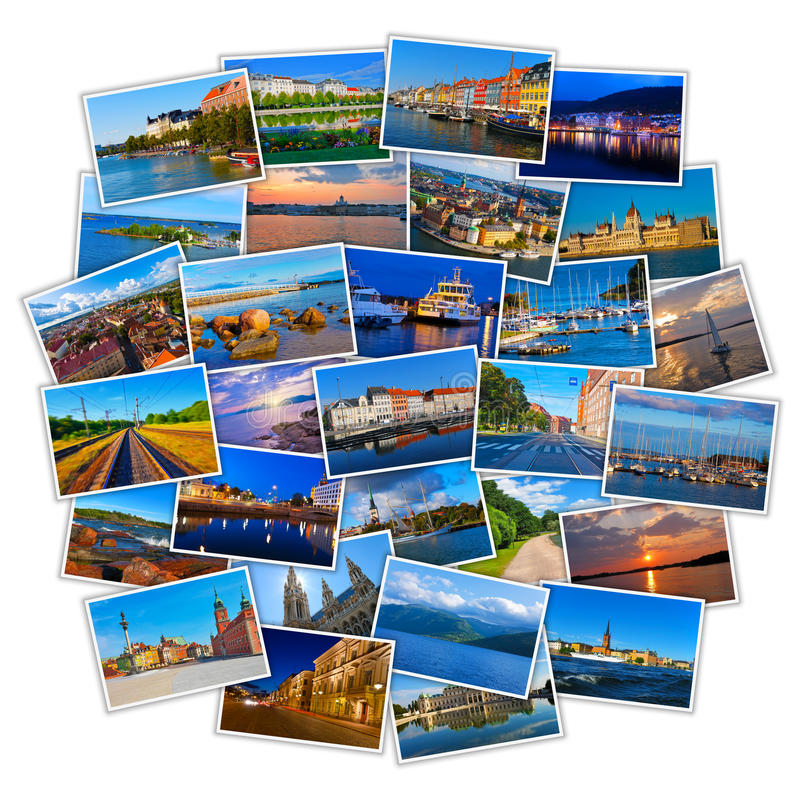 Set of colorful travel photos royalty free stock photo