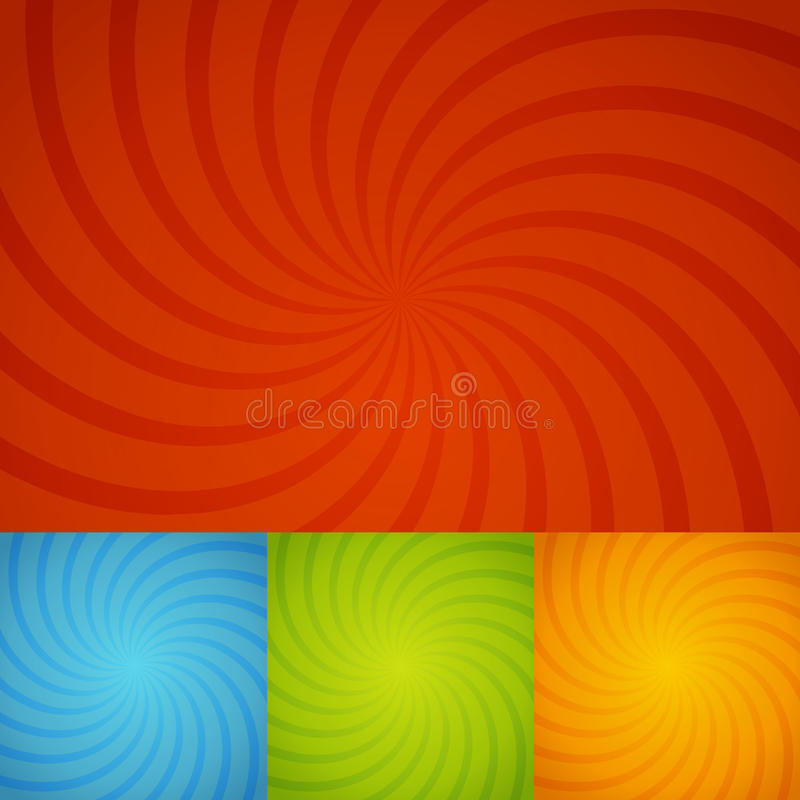 Free Set Colorful Twirl Background Stock Photos - 35564193