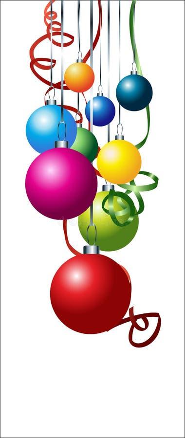 Set of colorful vector christmas balls vector illustration