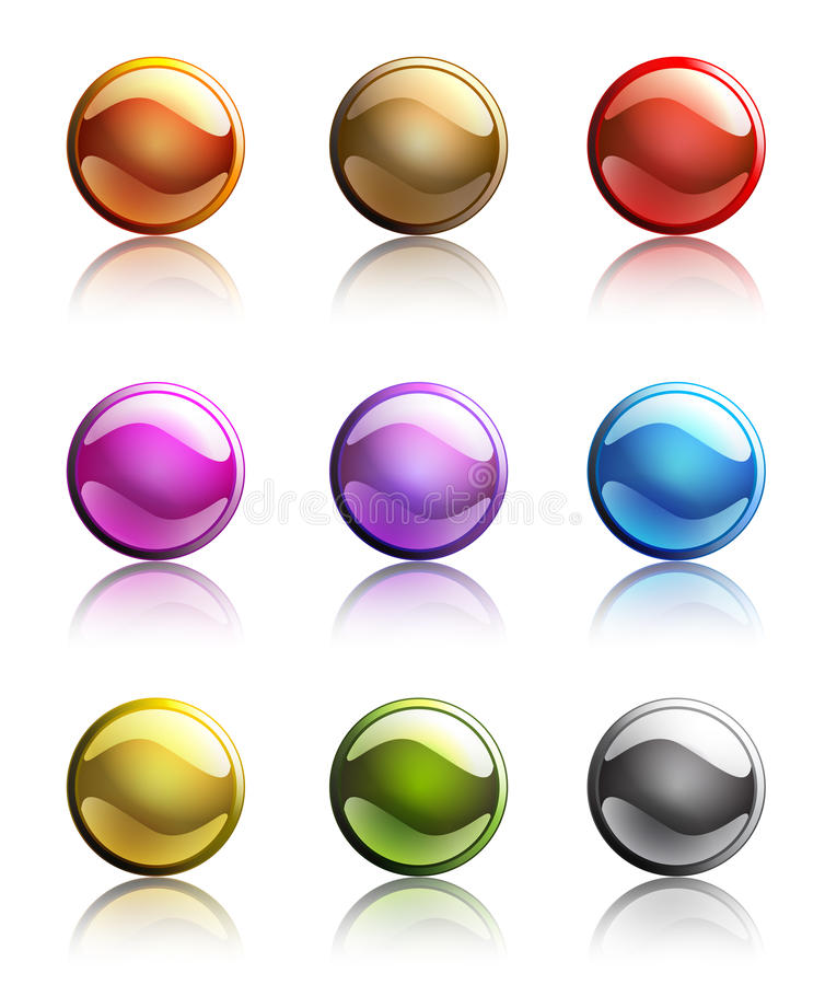 Download Set Of Colorful Web Button Templates Stock Vector - Illustration of icon, browse: 11571860