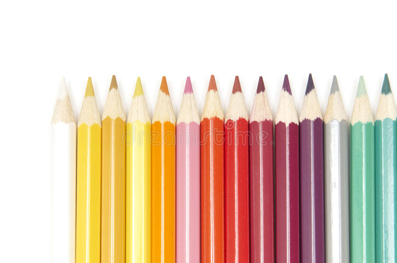 Set of colour pencils stock image