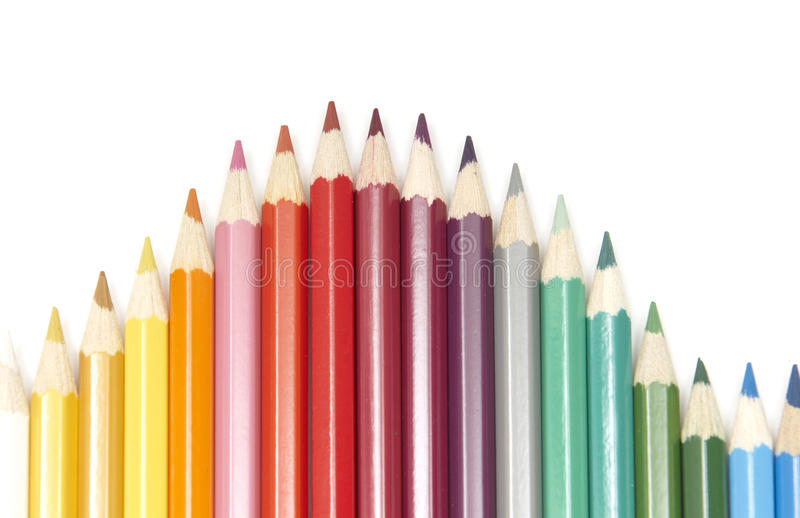 Set of colour pencils royalty free stock image