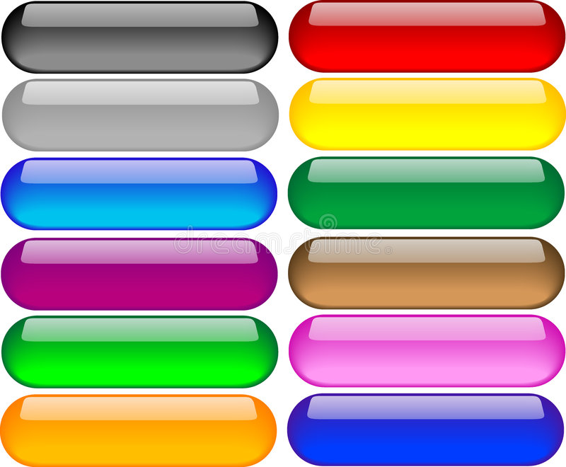 Set of Coloured Buttons vector illustration