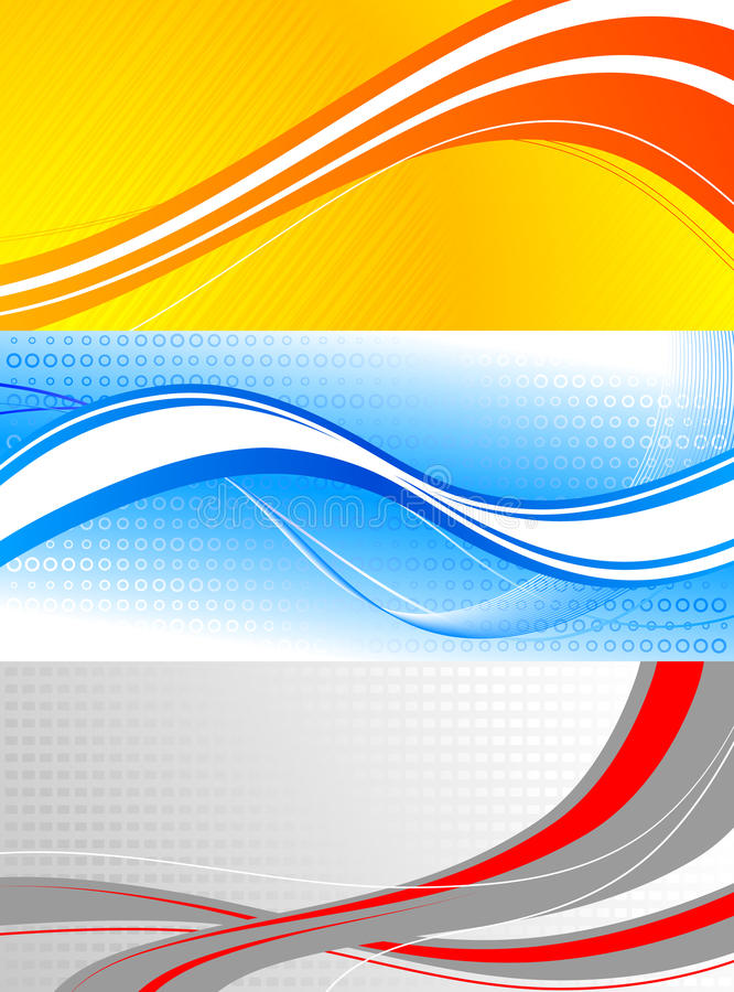 Download Set of colourful banners stock vector. Illustration of abstract - 12969670