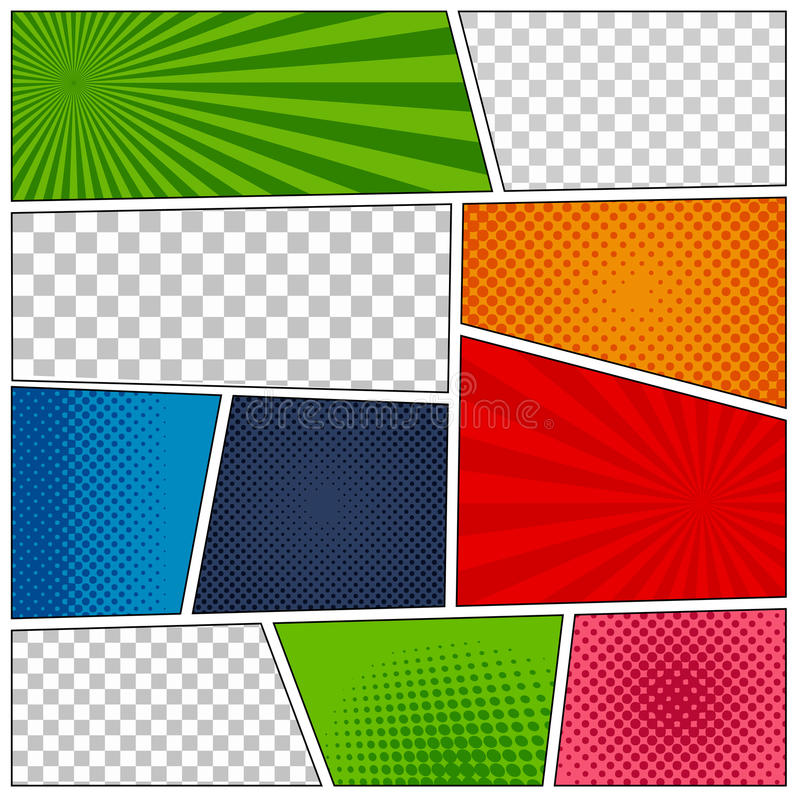 Set Of Comic Book Backgrounds Stock Vector - Illustration of cartoon ...