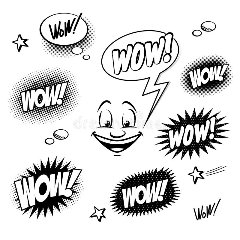 Set of comic book wow for your design vector illustration