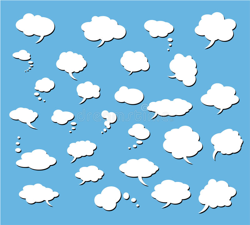 Set of Comic Clouds royalty free illustration