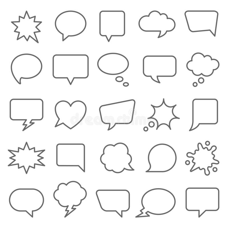 Set of comic speech bubbles. vector illustration