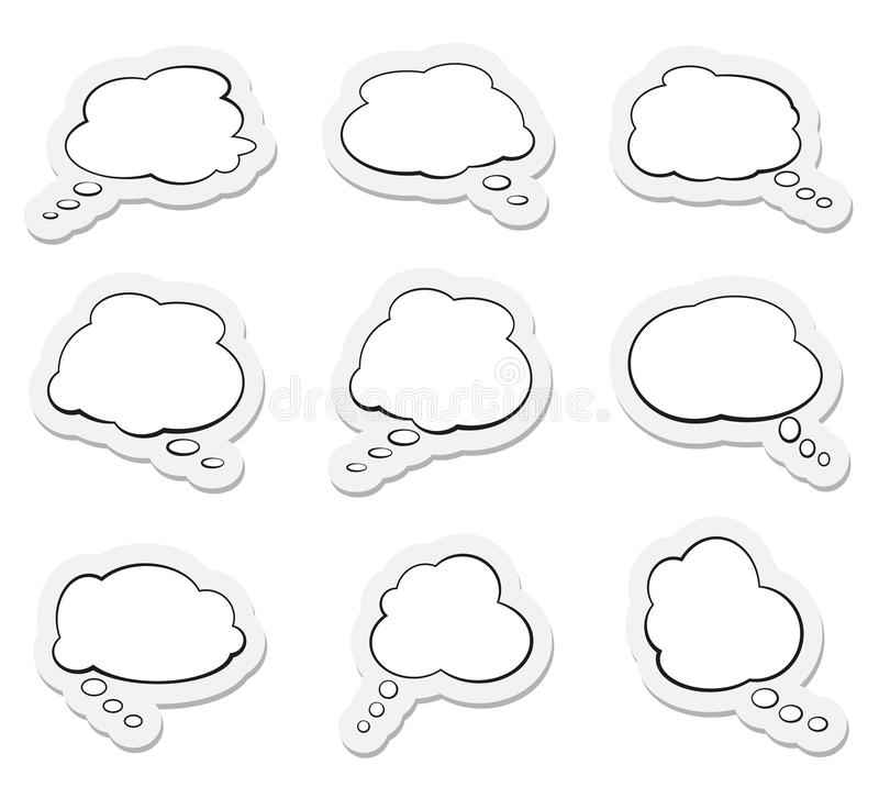 Set of comic speech bubbles or thought balloons. Vector illustration vector illustration