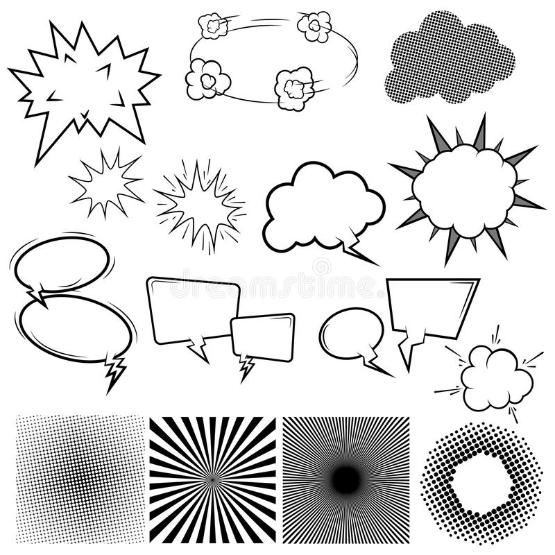Set of Comic Speech Bubles vector illustration