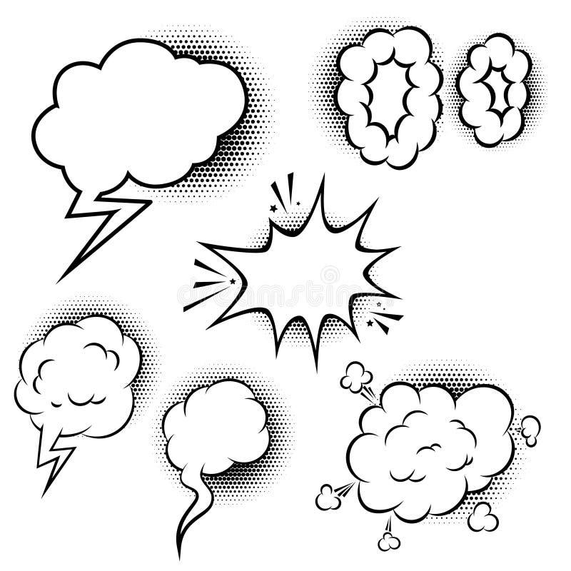 Set of comic style speech balloons. Design elements for poster, banner, card. Vector illustration vector illustration