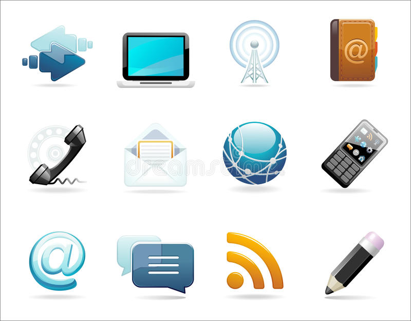 A set of communication icons stock photos