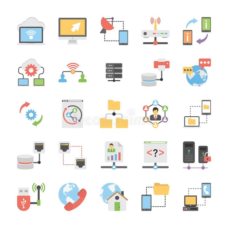 Set of Communication and Networking Icons vector illustration