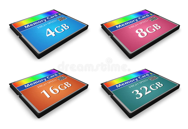 Download Set Of CompactFlash Memory Cards Stock Photo - Image: 16195430
