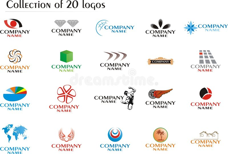 Download Set of company logos stock vector. Illustration of illustrated - 8539091