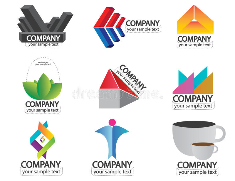 Set of company name logo vector vector illustration