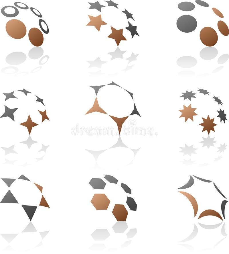 Set Of Company Symbols. Stock Photo