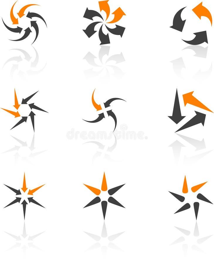 Set of Company symbols. Abstract company symbols. Vector illustration stock illustration