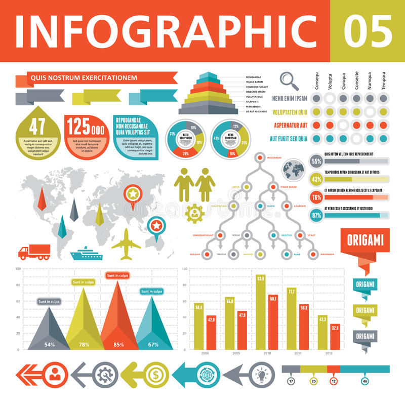 Download Infographic Elements 05 stock vector. Illustration of histogram - 29975427