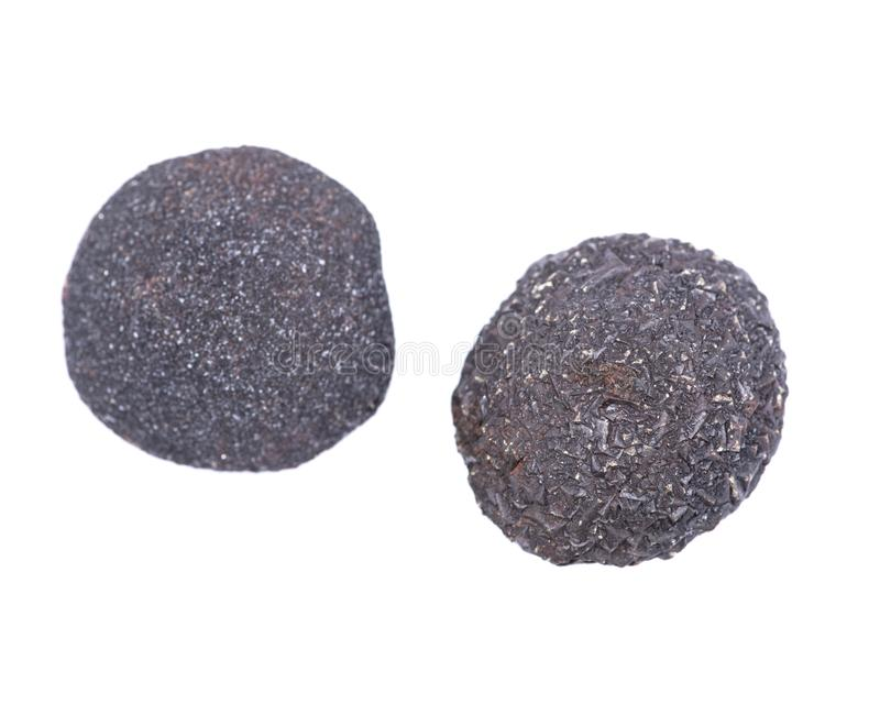 Set of concretion stones from southwest Kansas, USA. Kansas Pop Rocks isolated on white. Contains a male crystallized stock image