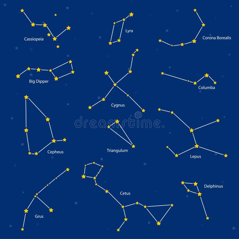 Set of constellations, illustration stock illustration