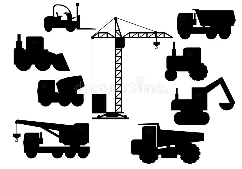 Set Of Construction Equipment stock photo