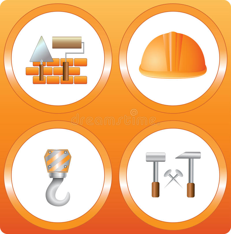 Download Set construction sign stock vector. Image of partition - 26035286