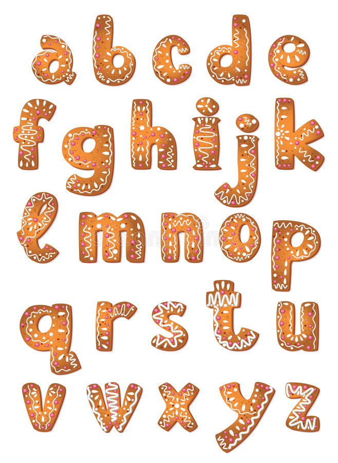Free Set Cookie Letters A To Z Stock Image - 23266471