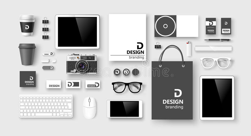 Set of corporate identity and branding. Vector vector illustration