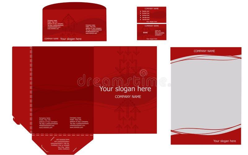Set of corporate identity templates, business stock illustration