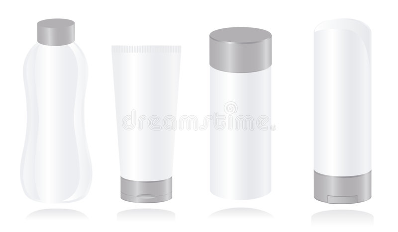 Set Of Cosmetic Container Templates Stock Photography