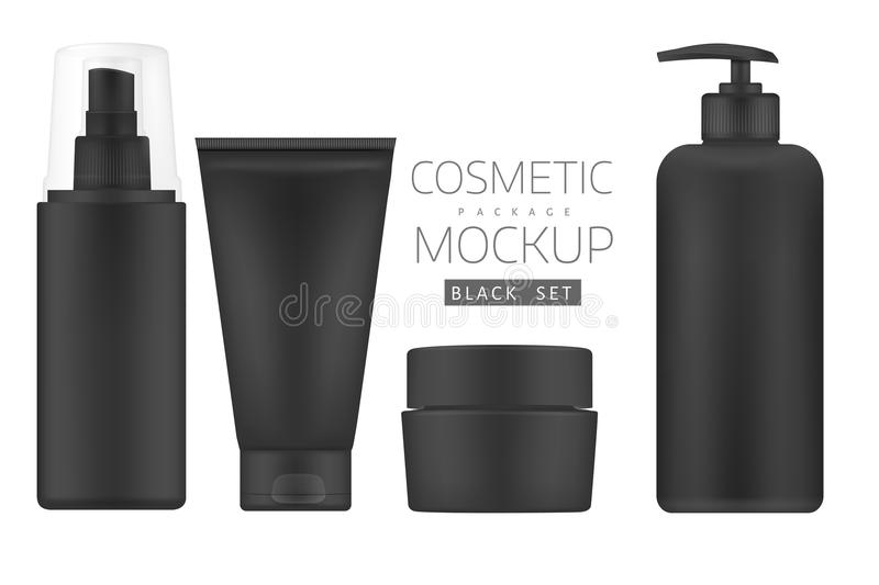 Set of cosmetic products on a white background. vector illustration