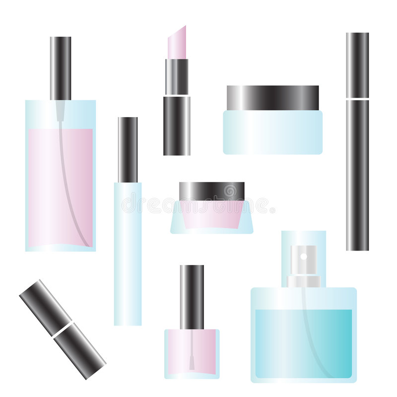 Set of cosmetics stock image