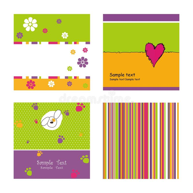 Set of covers stock illustration