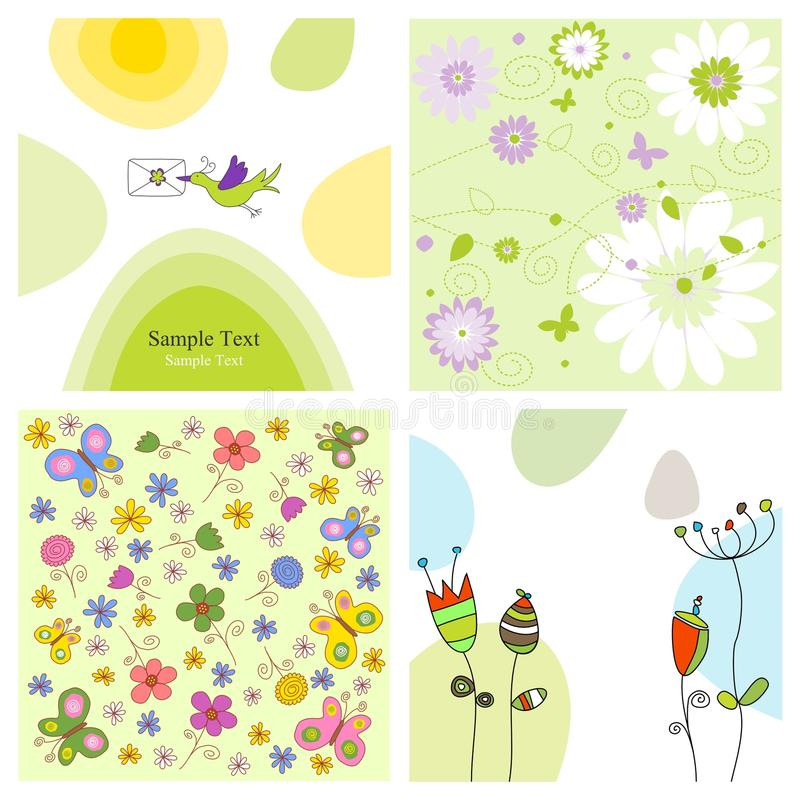 Set of covers royalty free illustration