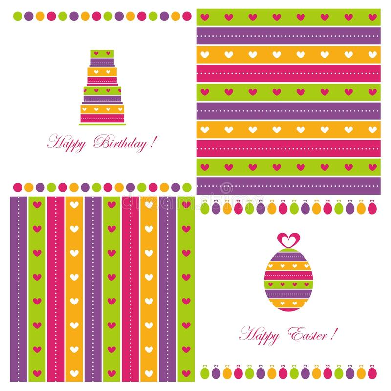 Download Set of covers stock illustration. Image of happy, bakery - 19673822