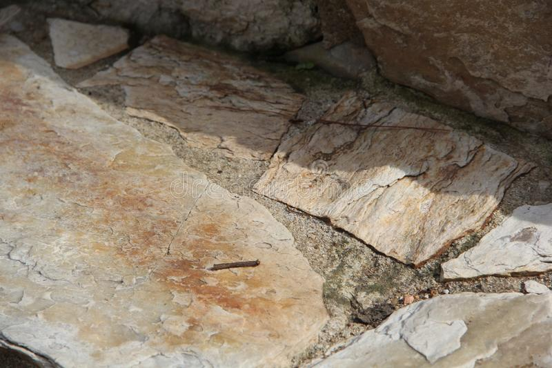 Set of cracked stones of the most varied colors stock photos