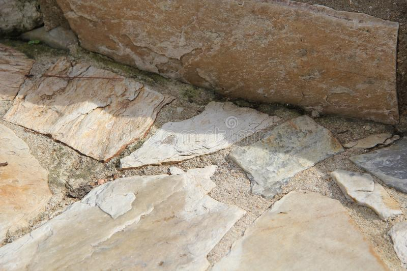 Set of cracked stones of the most varied colors. Pedras royalty free stock image