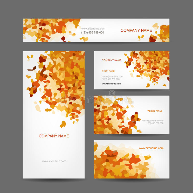 Set of creative business cards design, abstract vector illustration