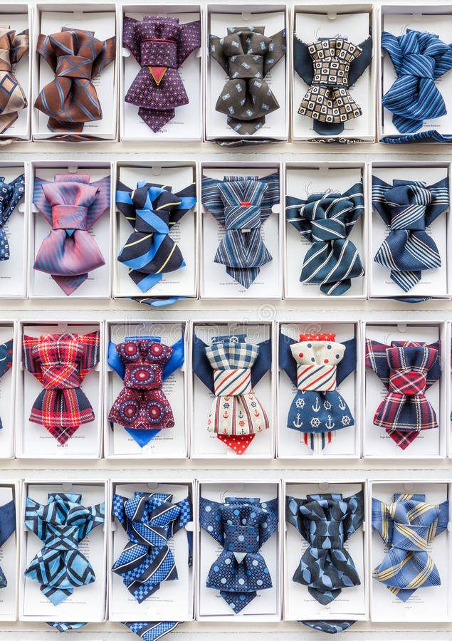 Set of creative and stylish men bow ties royalty free stock image