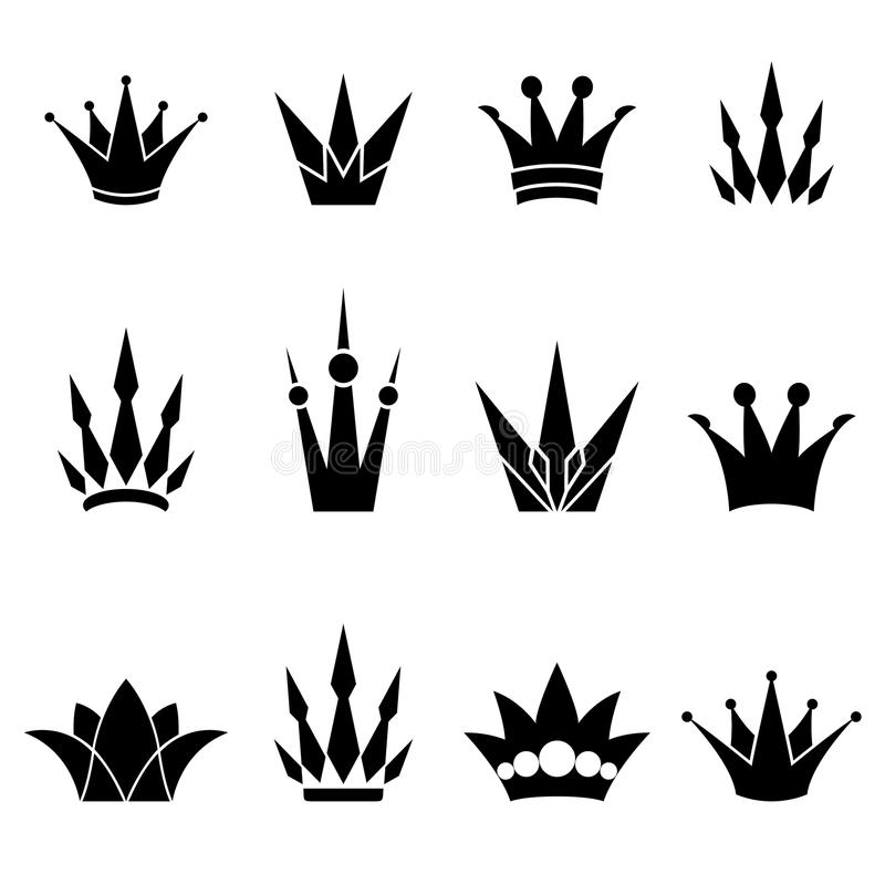 Download Set of crowns stock vector. Image of icon, crown, emperor - 22963706