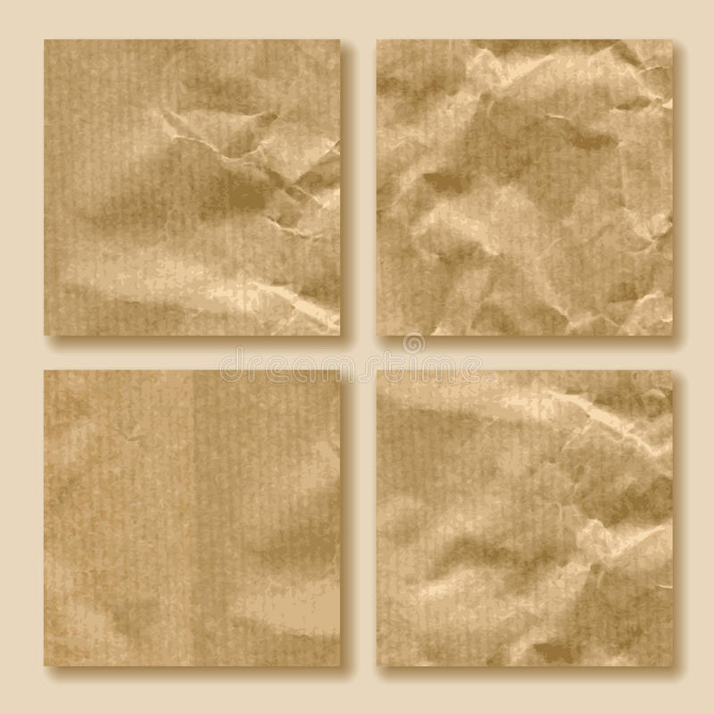 Download Set of crumpled paper stock image. Image of background - 25846489
