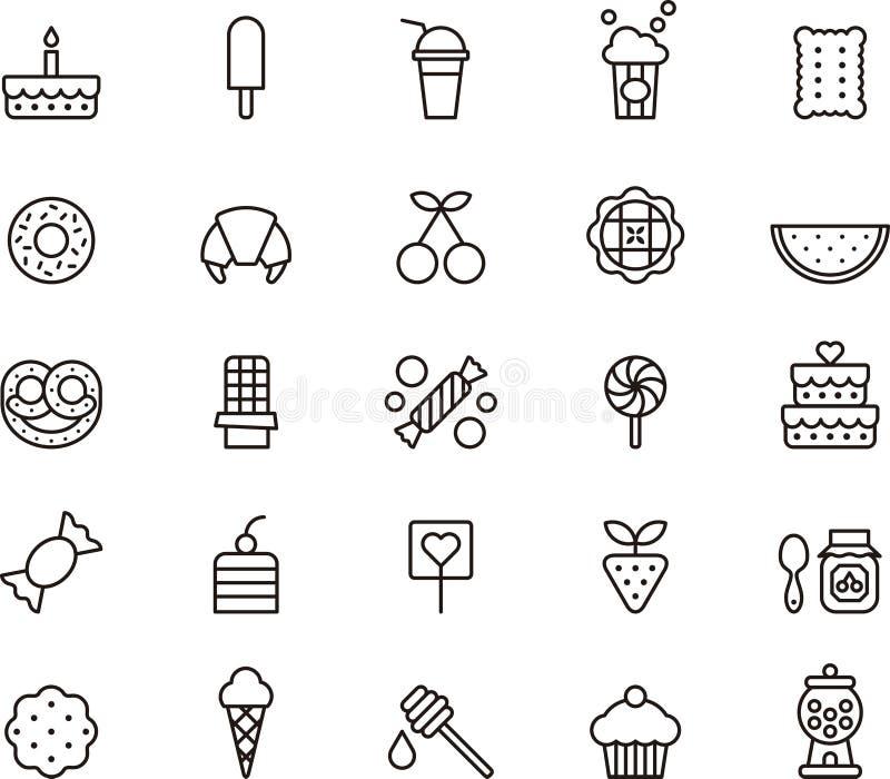 Set cukierki i cukierek ikony royalty ilustracja