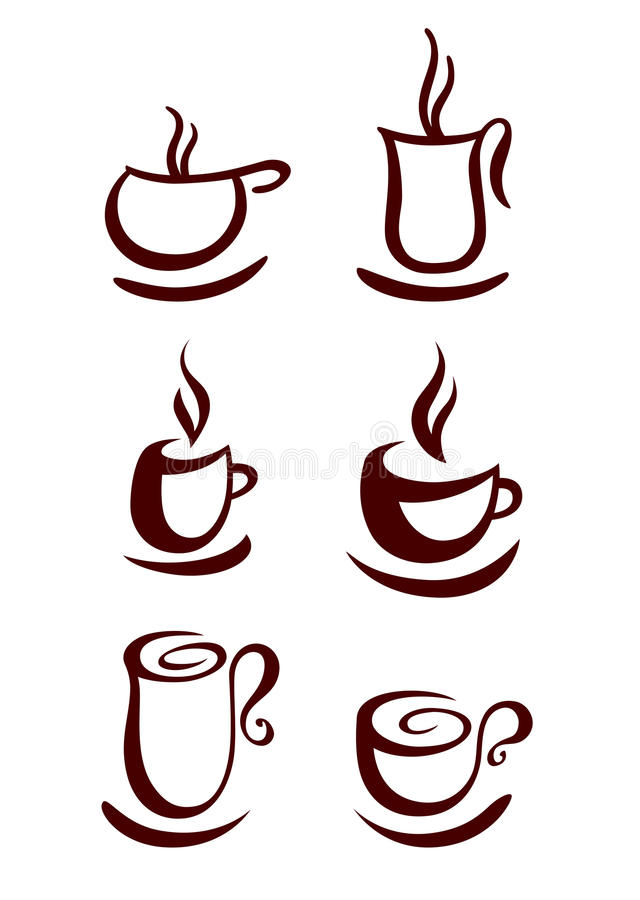 Download Set Cup Of Coffee Stock Images - Image: 31028094